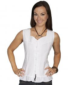 Scully Button Front Sleeveless Top