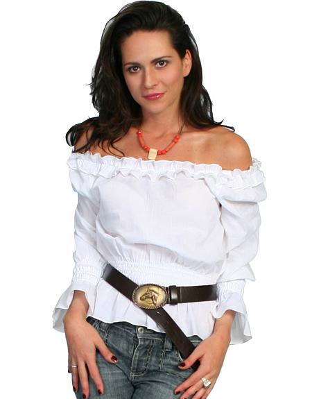 Scully Off-the-Shoulder Peasant Top