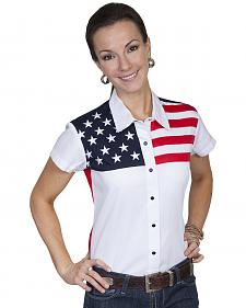 Scully American Flag Print Top