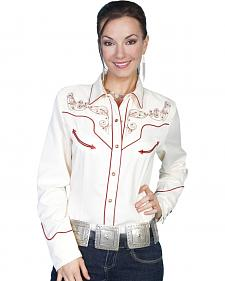 Scully Cross & Wing Embroidered Top