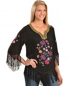 Ariat Lou Challis Embroidered Fringe Top