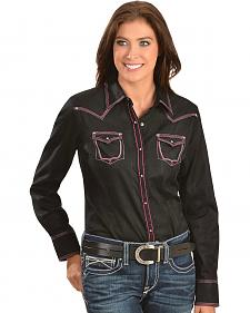 Ariat Shay Black Tone-on-tone Plaid Western Shirt