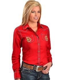 Ariat Blazing West Aztec Embroidered Shirt