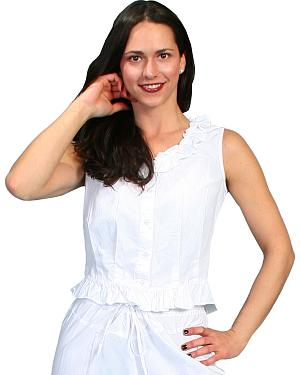 Rangewear by Scully Ruffled Sleeveless Top