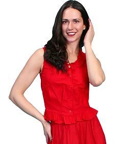 Rangewear by Scully Ruffled Sleeveless Top