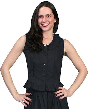 Rangewear by Scully Ruffled Sleeveless Top $33.99 AT vintagedancer.com
