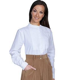 Rangewear by Scully Paisley Bib Inlay Long Sleeve Top