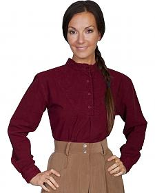 Rangewear by Scully Cotton Embroidered Long Sleeve Top
