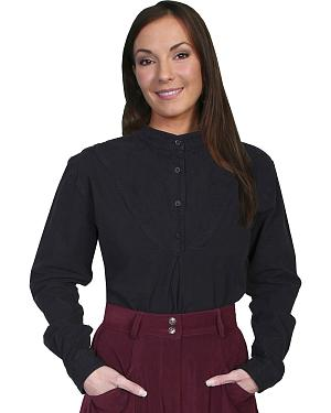 Rangewear by Scully Cotton Embroidered Long Sleeve Top $56.99 AT vintagedancer.com