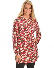 Red Ranch Pink Camo Tunic