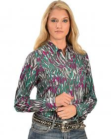 Wrangler Rock 47 Colorful Animal Print Western Shirt