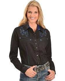 Wrangler Rock 47 Geometric Embroidered & Studded Western Shirt