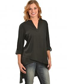 Red Ranch Women's Black High-Low Tunic