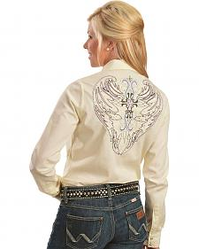Wrangler Rock 47 Fancy Cross & Wing Embroidered Shirt