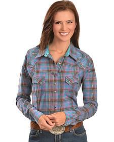 Wrangler Rock 47 Plaid Embroidered Shirt