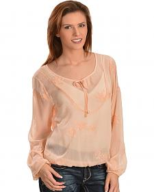 Ariat Alva Embroidered Chiffon Top