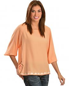 Ariat Becky Georgette Orange Blossom Top