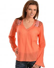 Ariat Marietta Embroidered Chiffon Top