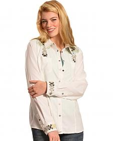 Ryan Michael Women's Aztec Embroidery Shirt
