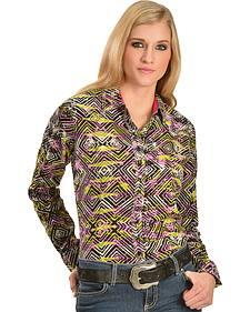 Wrangler Rock 47 Women's Geo Print Western Shirt