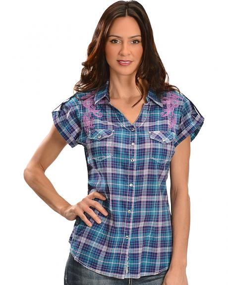 Short sleeve plaid shirts womens is shirt Short sleeve plaid shirts