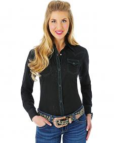 Wrangler Premium Patch Black Burnout Shirt