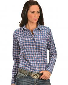 Wrangler Women's Princess Seam Snap Plaid Shirt
