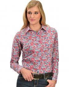 Wrangler Women's Floral Princess Seam Shirt