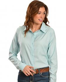 Wrangler Aura Blue Long Sleeve Shirt