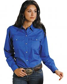 Roper Women's Amarillo Solid Pearl Snap Western Shirt