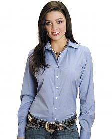 Stetson Women's End on End Solid Button-Down Shirt