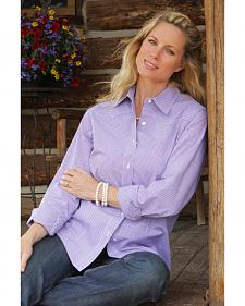 Miller Ranch Women's Violet Check Dress Shirt