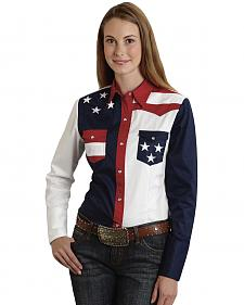 Roper Women's Stars & Stripes Colorblock Western Shirt