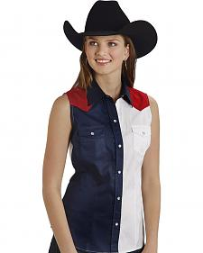 Roper Women's Americana Colorblock Sleeveless Shirt