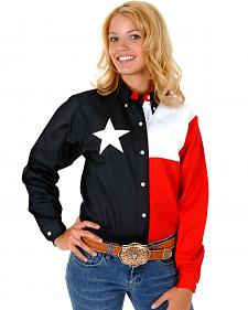 Roper Women's Texas Flag Button-Down Shirt