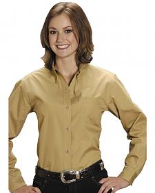 Roper Women's Amarillo Solid Button-Down Poplin Shirt