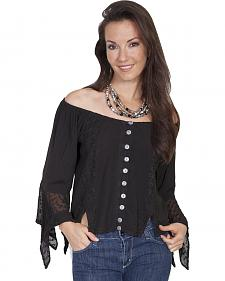 Scully Women's Off-the-Shoulder Lace Blouse