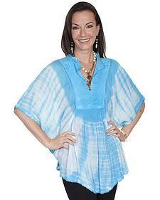 Scully Women's Tie-Dye Poncho Blouse