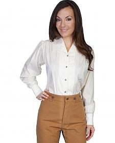 WahMaker by Scully Wide Lapel Blouse
