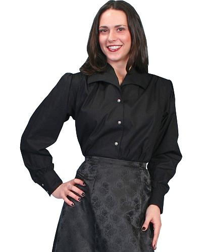 WahMaker by Scully Wide Lapel Blouse $79.99 AT vintagedancer.com
