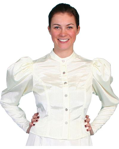 WahMaker by Scully Womens Classic Old West Blouse $78.00 AT vintagedancer.com