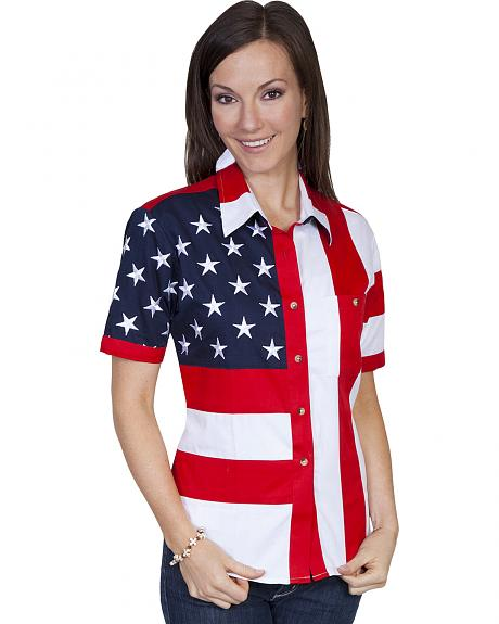 Rangewear by Scully Ladies Stars And Stripes Shirt
