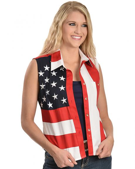 RangeWear by Scully Patriotic Sleeveless Top