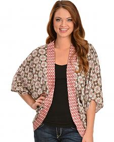 Red Ranch Women's Print Cocoon Top