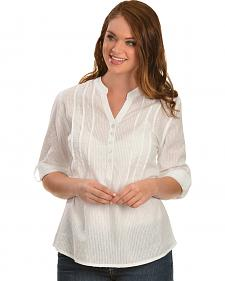 Red Ranch Women's Swiss Dot Cotton Top