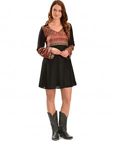 Truly 4 You Rust Tribal Paisley Dress