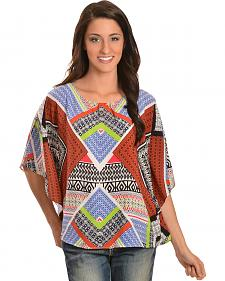 Red Ranch Women's Mixed Print Tunic