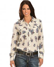 Wrangler Women's Skull Headdress Snap Shirt