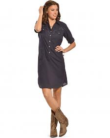 Ryan Michael Women's Lace Yoke Shirt Dress