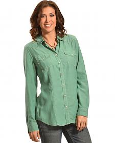 Ryan Michael Women's Silk-Cotton Whip-Stitch Shirt